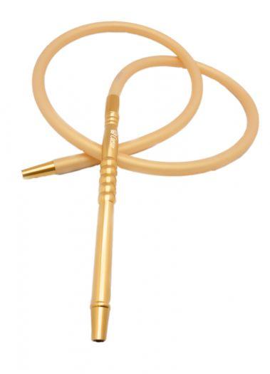 Шланг для кальяна силиконовый Caesar золотой матовый 180см