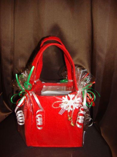 Сумочка новогодняя (чайная сумочка)  - подарочный набор с чаем