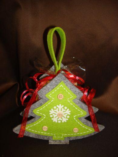 Ёлочка новогодняя - чайная сумочка - подарочный набор с кофе