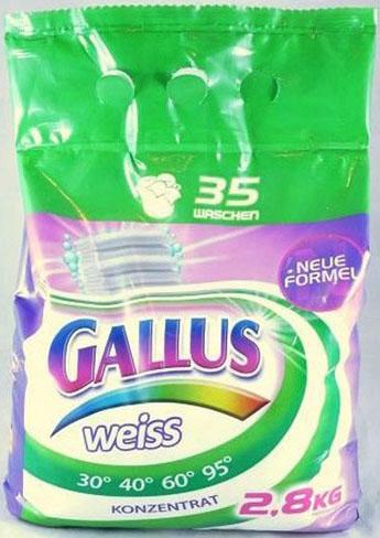 Gallus Порошок для стирки белого белья 35 стирок 2,8 кг