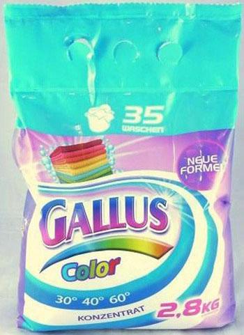 Gallus Порошок для стирки цветного белья 35 стирок 2,8 кг
