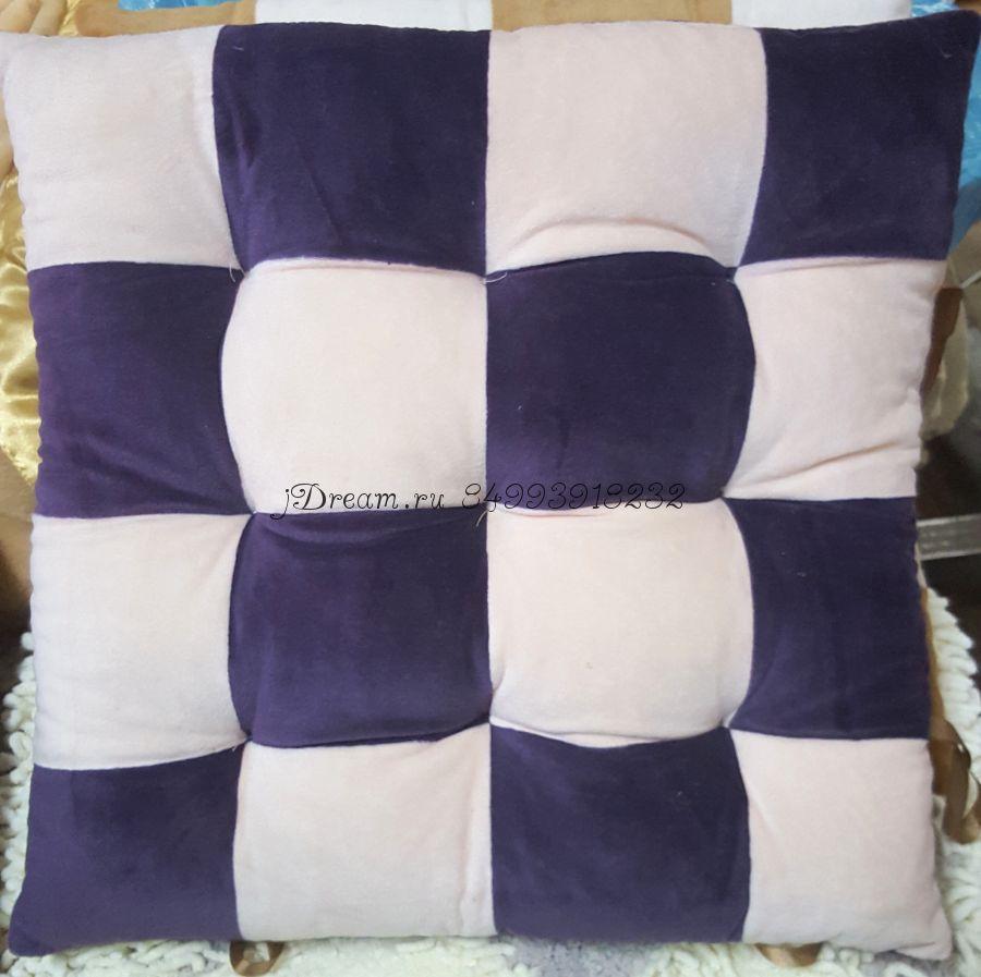 """Сидушка на стул """"Кубики"""" цвет фиолетовый"""
