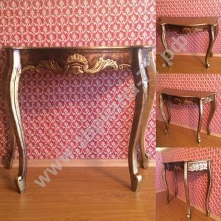 Стол-консоль Верона, золото с коричневой патиной