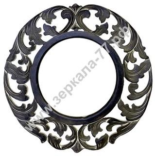 Зеркало Итальяно круглое коричневое