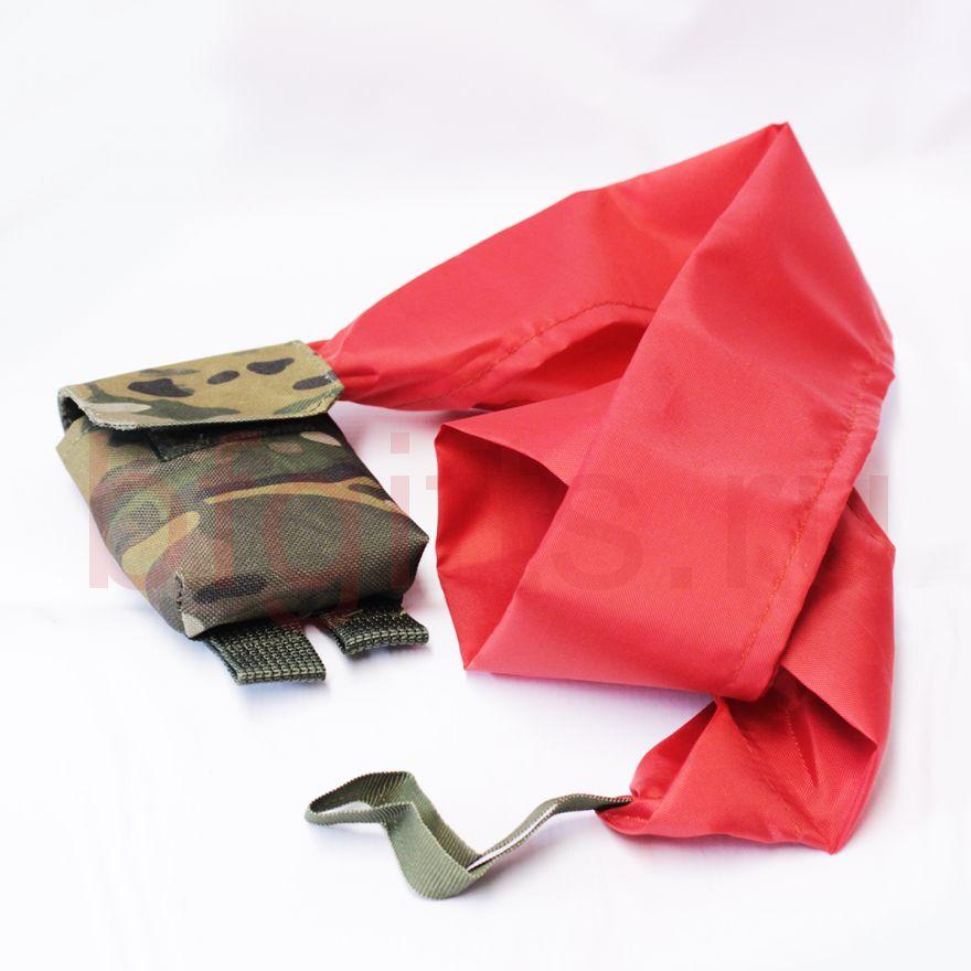 Подсумок с красной тканью, мультикам
