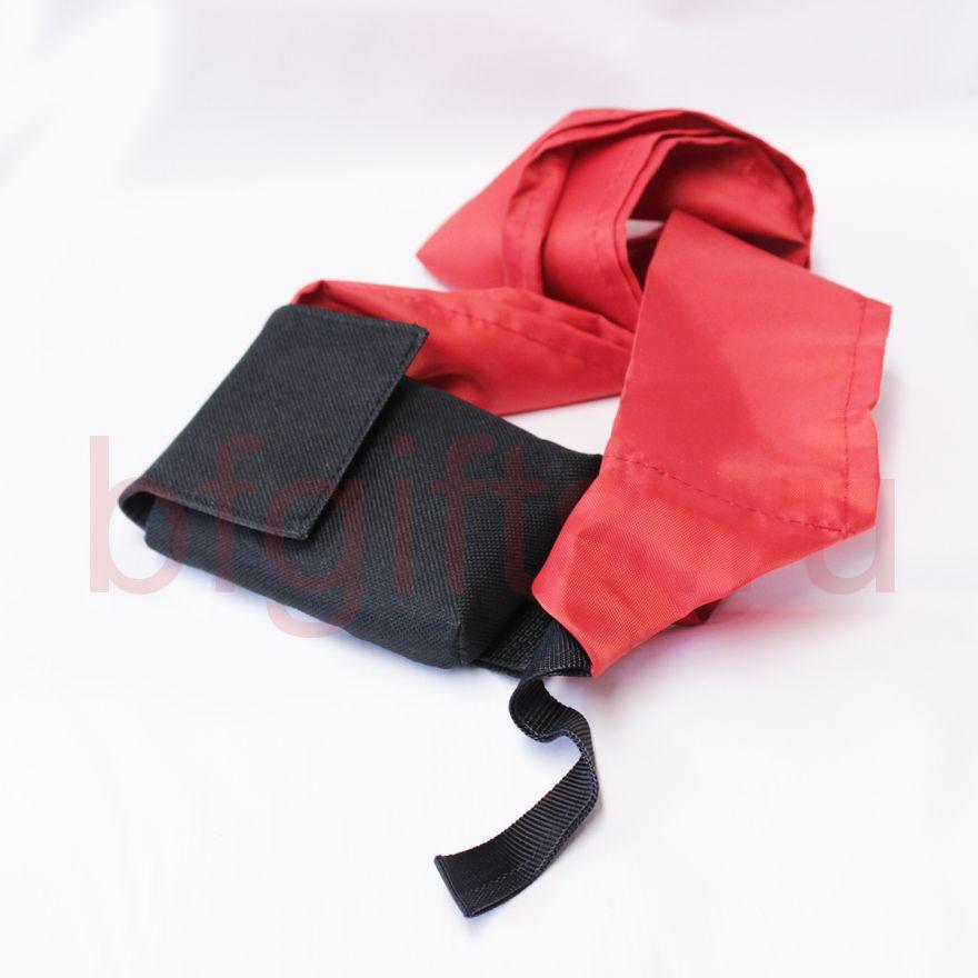 Подсумок с красной тканью, black