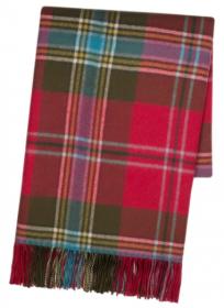 Теплая шаль  100 % стопроцентная шотландская овечья шерсть,  100 % стопроцентная шотландская овечья шерсть, расцветка (тартан) Маклин замка Дуарт, плотность 6 -MACLEAN OF DUART WEATHERED TARTAN