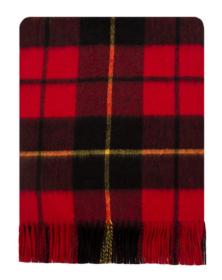 Теплая шаль  100 % стопроцентная шотландская овечья шерсть, расцветка (тартан ) клана Уоллес (Храброе сердце), WALLACE MODERN TARTAN плотность 6
