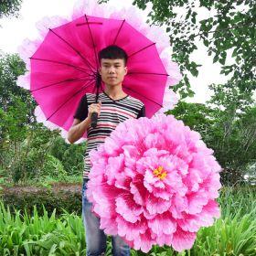 """Зонтик-цветок """"Волшебный пион"""" (неавтомат)  60 см"""