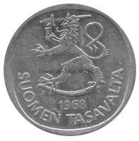 Финляндия 1 марка 1966 г.