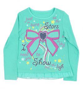 Блузка бирюзовая для девочки
