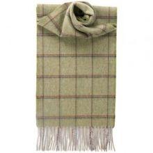 кашемировый шарф (100% драгоценный кашемир) , тартан деревушки Давиот, плотность 7 .DAVIOT CHECK LUXURY CASHMERE