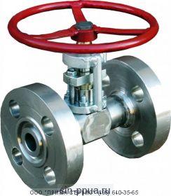 Клапан запорный игольчатый  с фланцами  DN15 PN4,0 МПа 15с68нж
