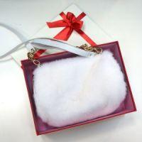 Муфта из белой норки купить в подарок