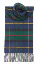 теплый шотландский шарф 100% шерсть , расцветка клан Маклауд (модерн)  MACLEOD OF HARRIS MODERN TARTAN плотность 6