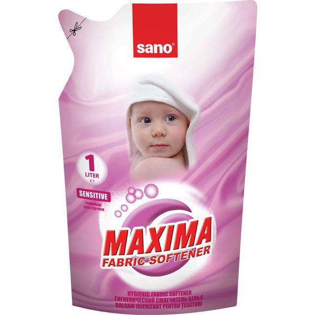 Гигиенический  смягчитель для белья Maxima Fabric Softener Sensitive Refill Bag Sano 1000 мл