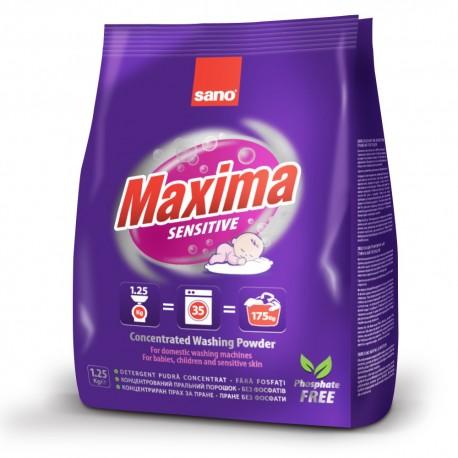 Концентрированный стиральный порошок 35 стирок Maxima Laundry Powder Sensitive Sano 1250 г