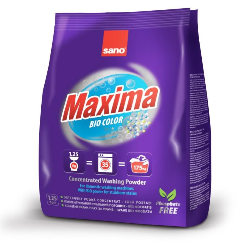 Концентрированный стиральный порошок 35 стирок Maxima Compact Laundry Powder-BIO Sano 1250 г