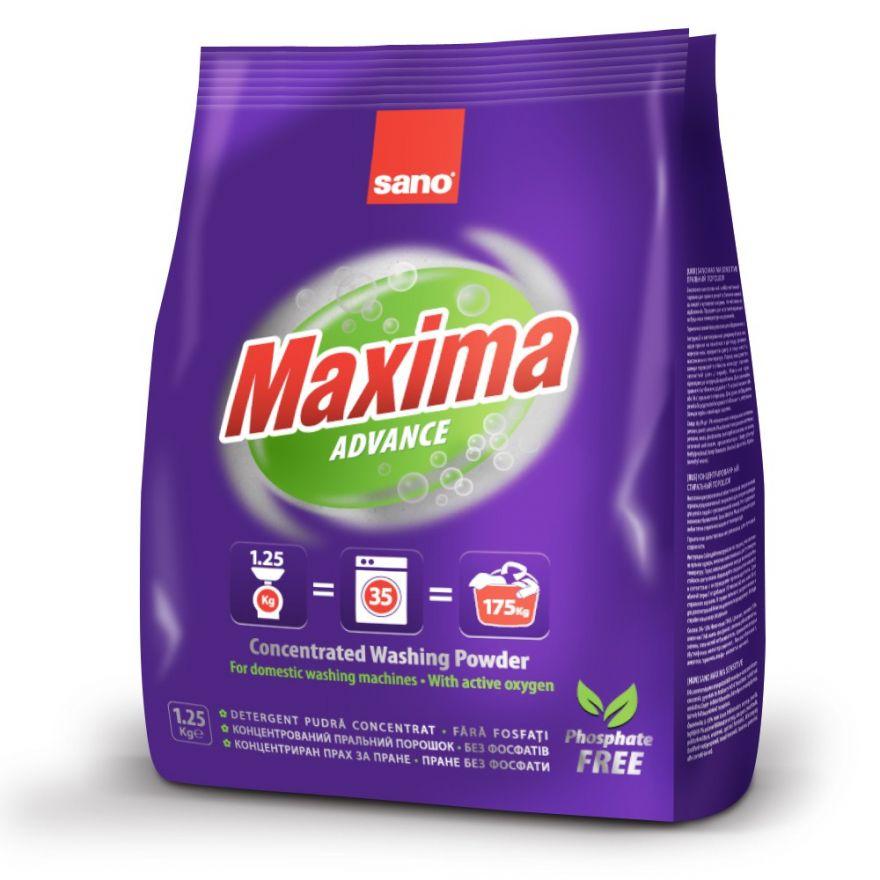 Концентрированный стиральный порошок концентрат - 35 стирок Maxima Advance Sano 1250 г
