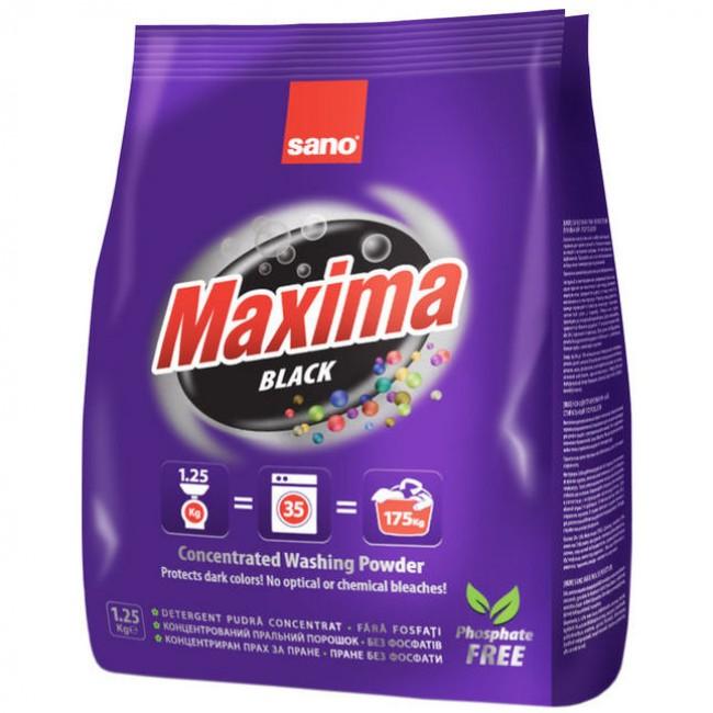 Концентрированный стиральный порошок концентрат - 35 стирок Maxima  Black Sano 1250 г