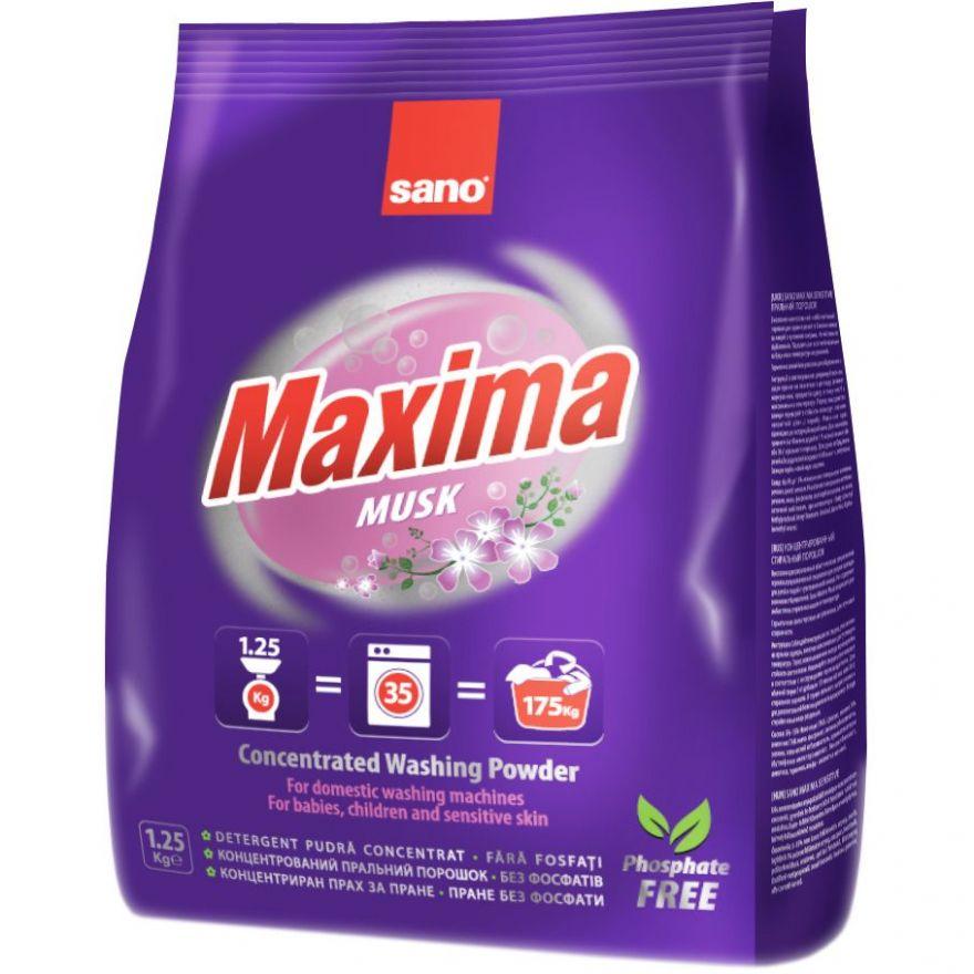 Концентрированный стиральный порошок Maxima Compact Laundry Powder-Musk Sano 1250 г