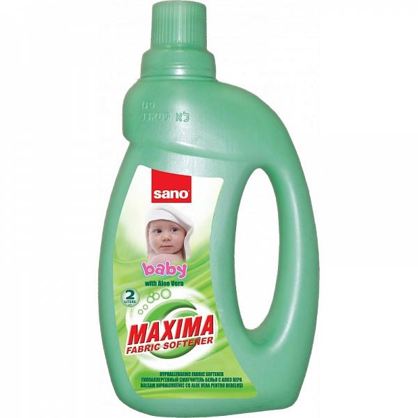 Гигиенический смягчитель для детского белья Maxima Fabric Softener Baby Sano 2000 мл