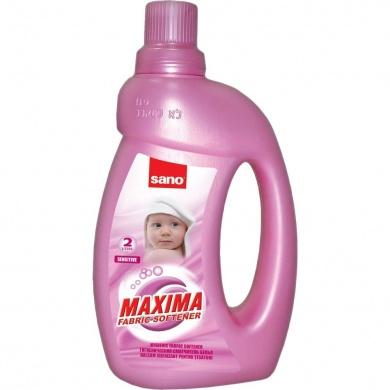 Гигиенический смягчитель для белья (запаска) Maxima Fabric Softener Sensitive Sano 2000 мл