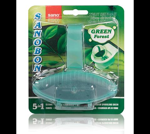 Подвесной очиститель унитаза (римблок-зеленый Лес) Sanobon Rim Block Green Forest Sano 55 г