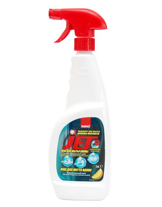 Универсальное средство для чистки ванной комнаты и акриловых ванн Jet All-Purpose Bathroom Cleaner Sano 1000 мл