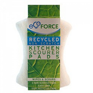 Чистящие губки для деликатных поверхностей белые EcoForce (ЭкоФорс) 3 шт