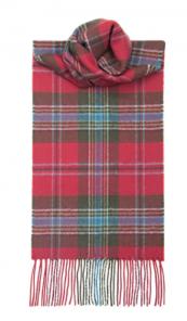 теплый шотландский шарф 100% шерсть ягнёнка, расцветка клана Маклин MACLEAN OF DUART WEATHERED TARTAN