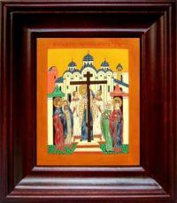 Воздвижение креста Господня (21х24), простой киот