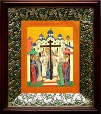 Воздвижение креста Господня (21х24), киот со стразами