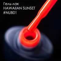 Гель-лак NUB 001 Hawaiian Sunset неоновый коралл, 8 мл