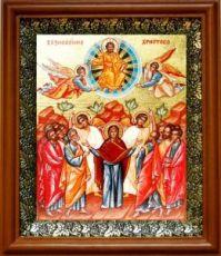 Вознесение Господне (19х22), светлый киот
