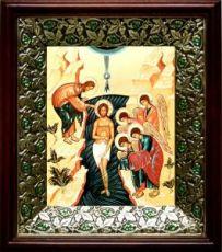 Крещение Господне (21х24), киот со стразами