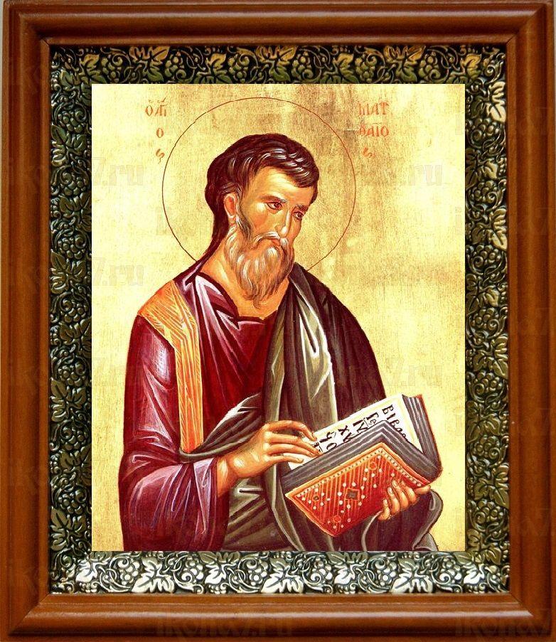 Матфей, апостол (19х22), светлый киот