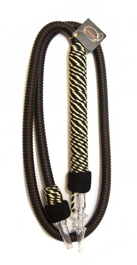 Шланг для кальяна Ager с мундштуком в оплетке коричневый 150см
