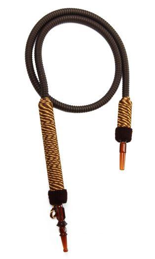 Шланг для кальяна Ager с коричневым мундштуком в оплетке 150см