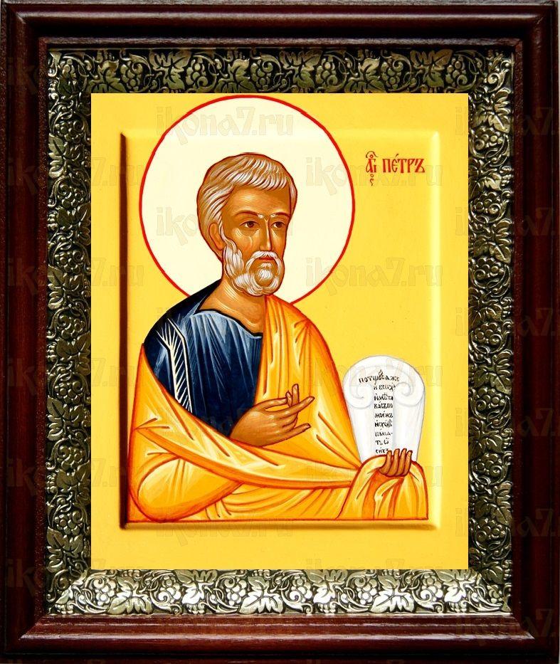 Петр, апостол (19х22), темный киот