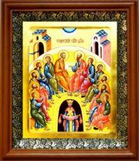 Сошествие Святого Духа на апостолов (19х22), светлый киот
