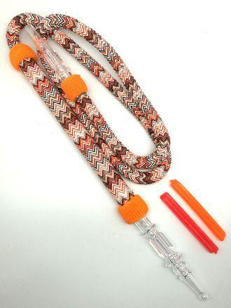 Шланг для кальяна Skyseven с охлаждающими картриджами оранжевый 180см