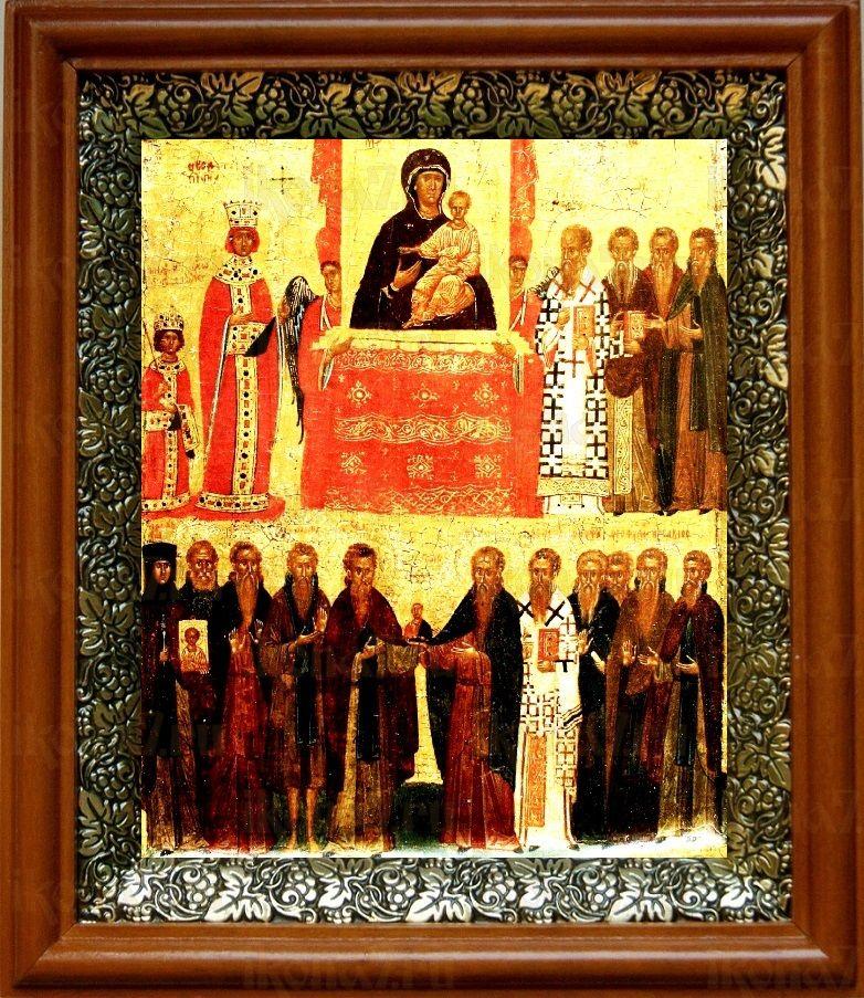 Торжество Православия (19х22), светлый киот
