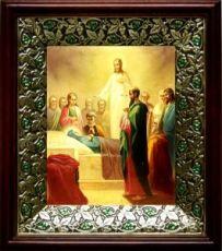 Успение Пресвятой Богородицы (21х24), киот со стразами
