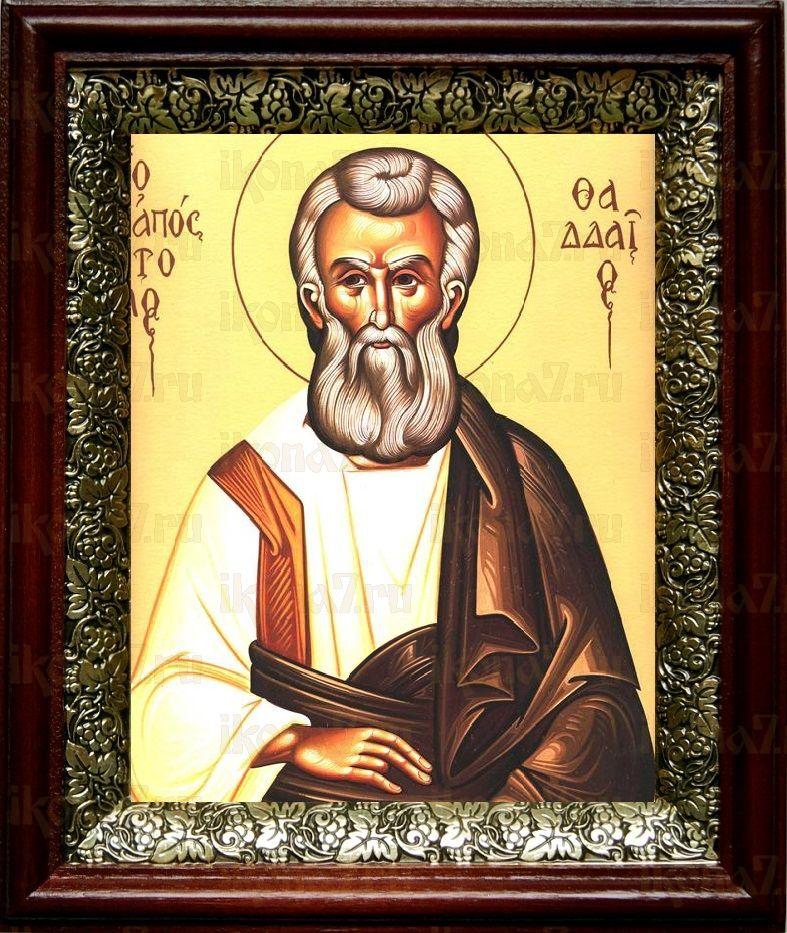 Фаддей, апостол от 70-ти (19х22), темный киот