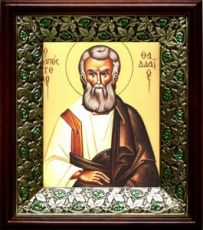 Фаддей, апостол от 70-ти (21х24), киот со стразами