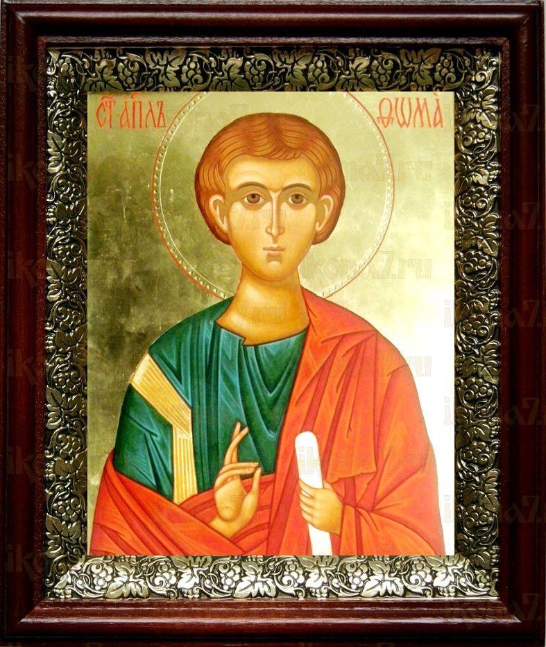 Фома, апостол (19х22), темный киот