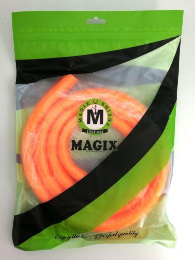 Шланг для кальяна Magix без мундштука силиконовый кислотно-оранжевый 150см