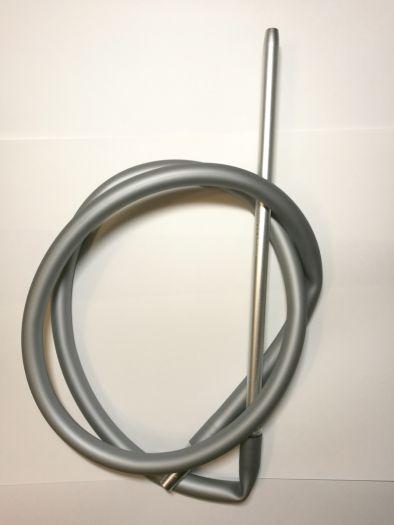 Шланг для кальяна Hookah Smoke силиконовый матовый серебряный 180см