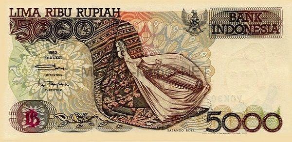 Банкнота Индонезия 5 000 рупий 1992 год